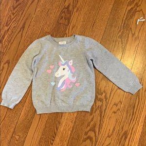 Unicorn sweater size 4T